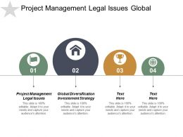 Project Management Legal Issues Global Diversification Investment Strategy Cpb