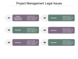 Project Management Legal Issues Ppt Powerpoint Presentation Gallery Format Ideas Cpb