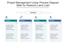 Project Management Linear Process Diagram Slide For Reasons Land Loan Infographic Template