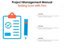 Project Management Manual Testing Icon With Pen