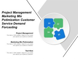 Project Management Marketing Mix Optimization Customer Service Demand Forecasting