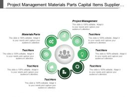 Project Management Materials Parts Capital Items Supplier Business Service
