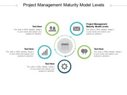 Project Management Maturity Model Levels Ppt Powerpoint Presentation Slides Display Cpb