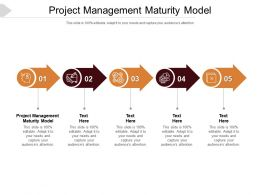 Project Management Maturity Model Ppt Powerpoint Presentation Slides Graphics Cpb