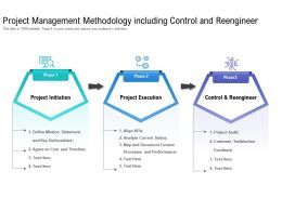 Project Management Methodology Including Control And Reengineer