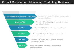 Project Management Monitoring Controlling Business Plan Alignment Process Cpb