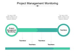 Project Management Monitoring Ppt Powerpoint Presentation Slides Objects Cpb