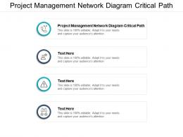 Project Management Network Diagram Critical Path Ppt Powerpoint Presentation Icon Visual Aids Cpb