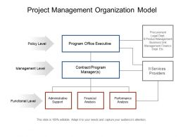 project management organization model powerpoint slide information