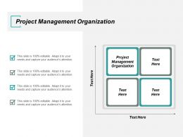 Project Management Organization Ppt Powerpoint Presentation Icon Influencers Cpb
