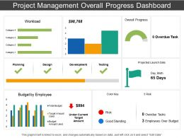 Project Management Overall Progress Dashboard