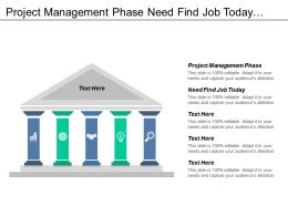 Project Management Phase Need Find Job Today Business Management Cpb