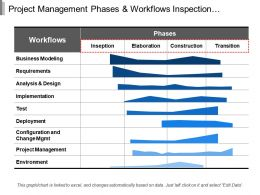 Project Management Phases And Workflows Inspection Elaboration And Transition