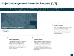 Project Management Phases For Proposal Model Ppt Powerpoint Icon Themes