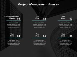 Project Management Phases Ppt Powerpoint Presentation Icon Inspiration Cpb