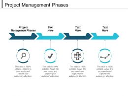 Project Management Phases Ppt Powerpoint Presentation Infographic Template Mockup Cpb