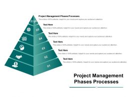 Project Management Phases Processes Ppt Powerpoint Presentation Summary Deck Cpb