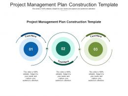 Project Management Plan Construction Template Ppt Powerpoint Presentation Deck Cpb