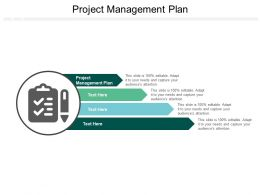 Project Management Plan Ppt Powerpoint Presentation Gallery Slides Cpb