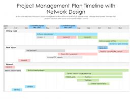Project Management Plan Timeline With Network Design