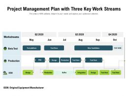 Project Management Plan With Three Key Work Streams