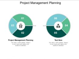 Project Management Planning Ppt Powerpoint Presentation Show Icon Cpb
