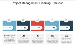 Project Management Planning Practices Ppt Powerpoint Presentation Slides Ideas Cpb