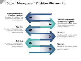 Project Management Problem Statement Effective Performance Measurement System Cpb