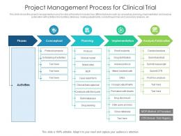 Project Management Process For Clinical Trial