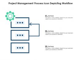 Project Management Process Icon Depicting Workflow
