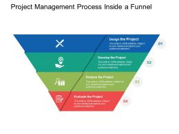 Project Management Process Inside A Funnel