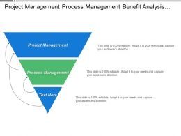 Project Management Process Management Benefit Analysis Include Benefits