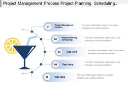 Project Management Process Project Planning Scheduling Resources Planning
