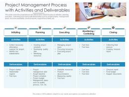Project Management Process With Activities And Deliverables
