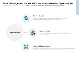 Project Management Process With Casual And Preferential Dependencies