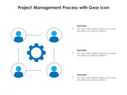 Project Management Process With Gear Icon