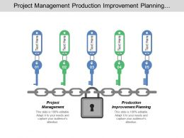 Project Management Production Improvement Planning Implementation Product Improvement Preparation