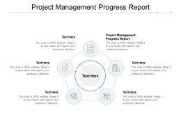Project Management Progress Report Ppt Powerpoint Presentation Ideas Template Cpb