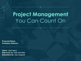 Project Management Proposal Powerpoint Presentation Slides