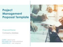 Project Management Proposal Template Powerpoint Presentation Slides