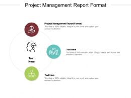 Project Management Report Format Ppt Powerpoint Presentation Show Aids Cpb