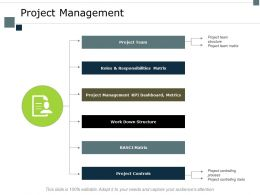 Project Management Responsibilities Matrix Ppt Powerpoint Presentation File Microsoft