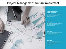 Project Management Return Investment Ppt Powerpoint Presentation Gallery Master Slide Cpb