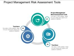 Project Management Risk Assessment Tools Ppt Powerpoint Presentation Gallery Background Designs Cpb