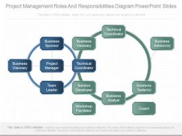 Project Management Roles And Responsibilities Diagram Powerpoint Slides