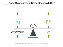 Project Management Roles Responsibilities Ppt Powerpoint Presentation Ideas Cpb