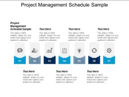 Project Management Schedule Sample Ppt Powerpoint Presentation Gallery Introduction Cpb