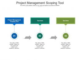 Project Management Scoping Tool Ppt Powerpoint Presentation Outline Inspiration Cpb