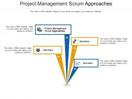 Project Management Scrum Approaches Ppt Powerpoint Presentation Summary Graphics Download Cpb