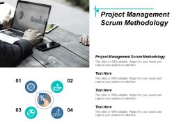 Project Management Scrum Methodology Ppt Powerpoint Presentation Icon Picture Cpb